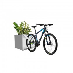 Planter with bicycle rack -...