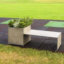 Modular planter with bench...