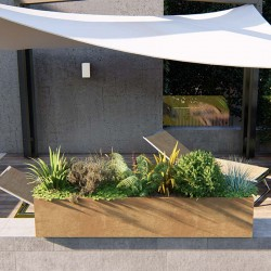 Modular planter in steel...