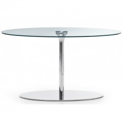 Round table with glass top Ø100 - Infinity