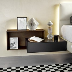 Wall mounted bedside table...