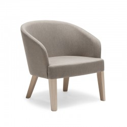 Doris lounge armchair in fabric or synthetic leather