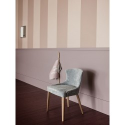Padded chair with wooden...