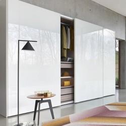 Sangiacomo Sliding wardrobe with groove doors - Breccia