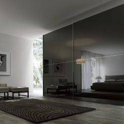 Sliding Sangiacomo wardrobe with lacquered glass doors - Twin