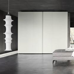 Coplanar Sangiacomo wardrobe with door in two finishes - Sintesi