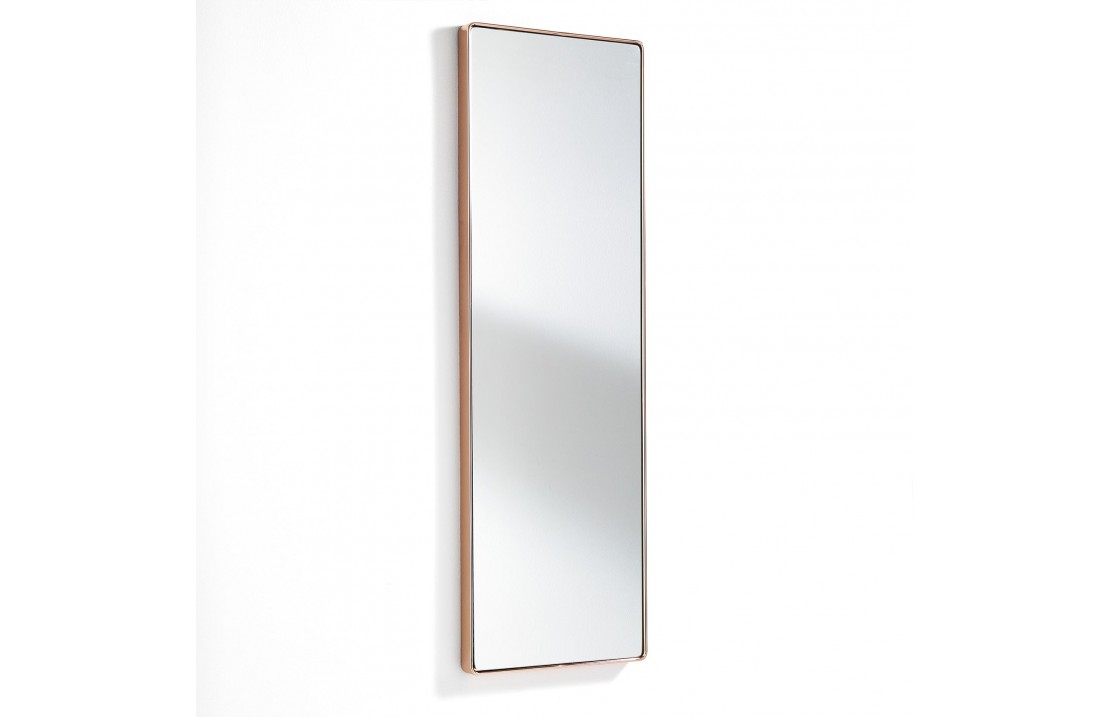 Mirror with copper frame