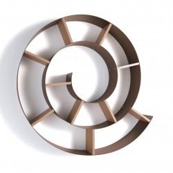 Libreria da parete a spirale in metallo