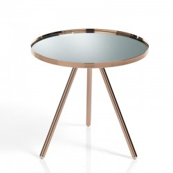 Low table/night stand copper and glass