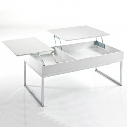 Coffee table with opening top and compartment