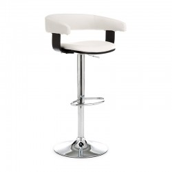 Stool in metal and synthetic leather