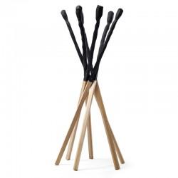 Match solid wood coat rack