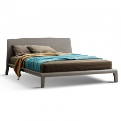 Cloe bed with wood headboard and bed frame