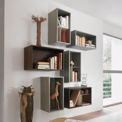 Open composition 1 bookcase with open units