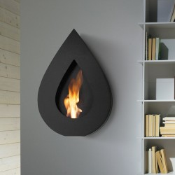 Bio-fireplace in steel - Flame Wall