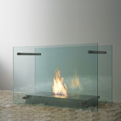 Floor bio-fireplace in...