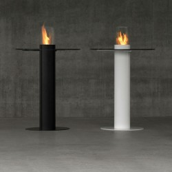 Steel bio-fireplace -...