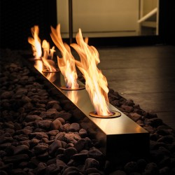 Recessed burner in steel -...