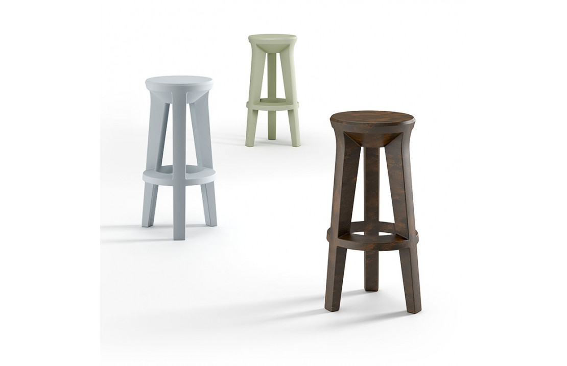 Frozen stool with round seat in polyethylene