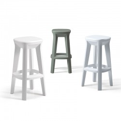 Frozen stool with square seat in polyethylene