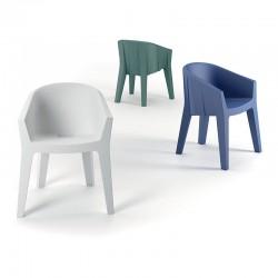 Frozen chair in polyethylene for indoor/outdoor