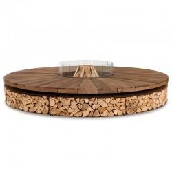 Braciere in acciaio e legno...