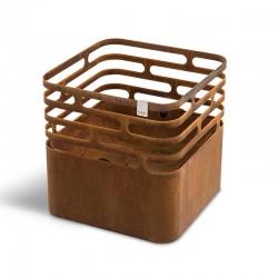 Cube barbecue/braciere/sgabello in acciaio
