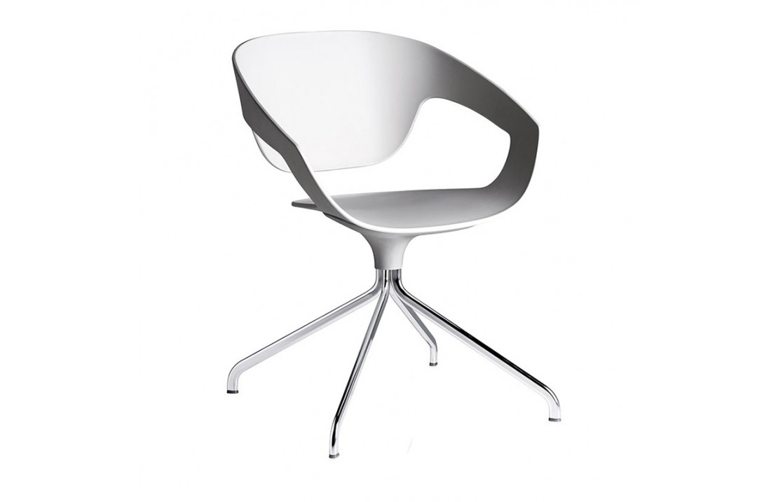 Vad swivel chair in metal and polypropylene