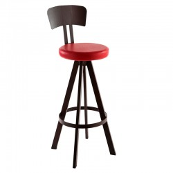 West padded stool with...