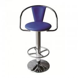 Pacha chromed stool fixed...
