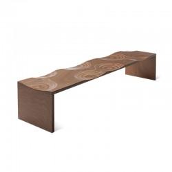 Ripples outdoor wooden bench