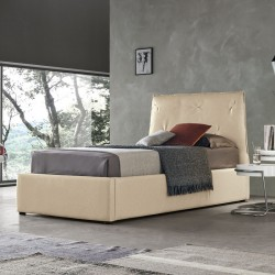 Padded single bed with or...