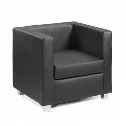 Quadra armchair in fabric, eco-leather or leather
