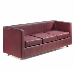 Quadra sofa 3 seat in fabric, eco-leather or leather
