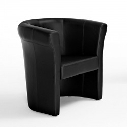 Penelope armchair in fabric, eco-leather or leather