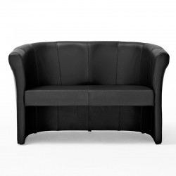 Penelope sofa 2 seats in fabric, eco-leather or leather