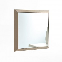 Rex 2 wall mirror with leather frame