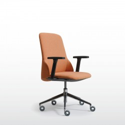 Deep Managerial low back chair with armrests