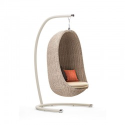 Garden Swing in rattan with...