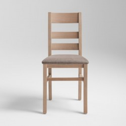 Lory wood chair upholstered...