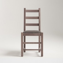 Wood chair with padded seat...