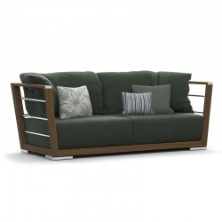 Outdoor sofa in wood and fabric - Embrace