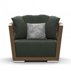 Outdoor armchair in teak...