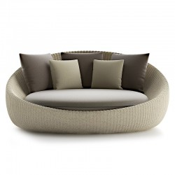 Outdoor daybed in rattan -...
