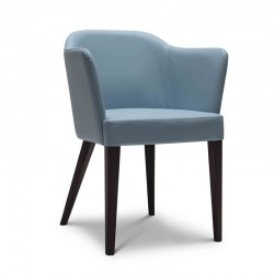 Truman chair in fabric or synthetic leather