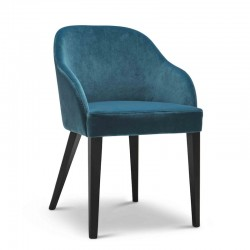 Roald chair in fabric or synthetic leather