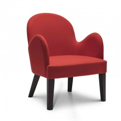 Roald lounge armchair in fabric or synthetic leather