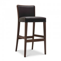 Nob stool upholstered in fabric or synthetic leather