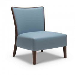 Nob lounge armchair in fabric or synthetic leather