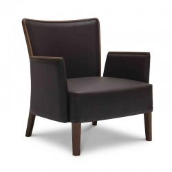 Nob lounge armchair with...